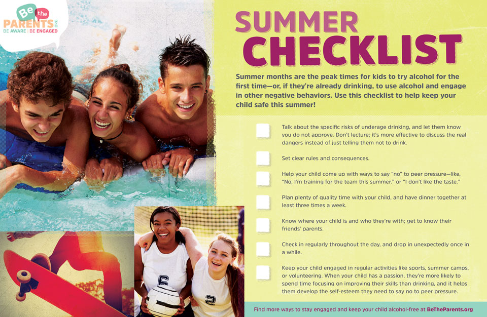 Checklist for keeping Idaho teen alcohol-free this summer